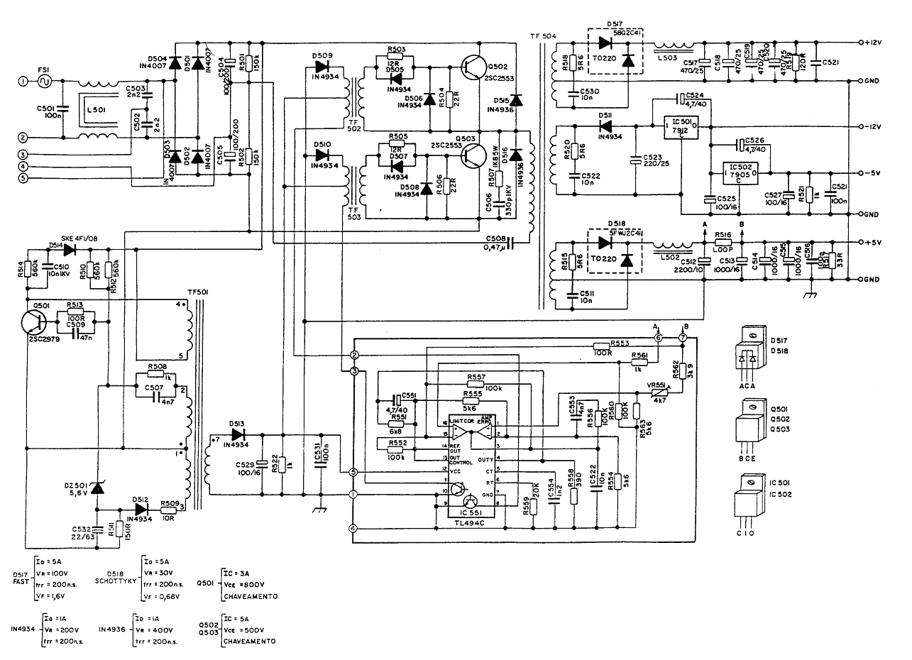 Wiring Diagram Atx Smps Power Supply Circuit Diagram 400w S Ak 47 Meaning.