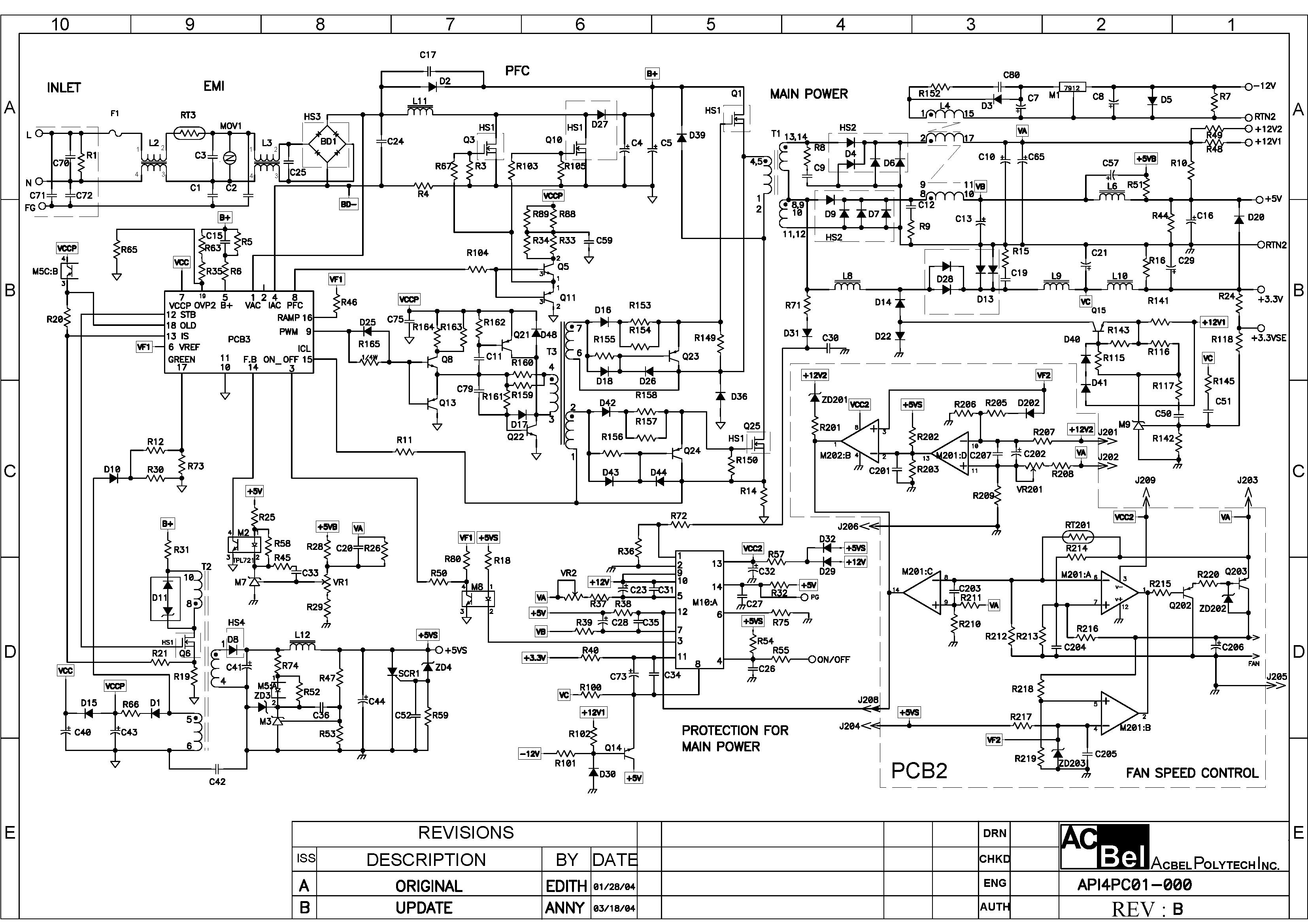 Схемы компьютерных блоков питания atx