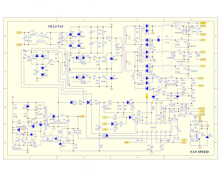 Схема БП ShenZhon мощностью