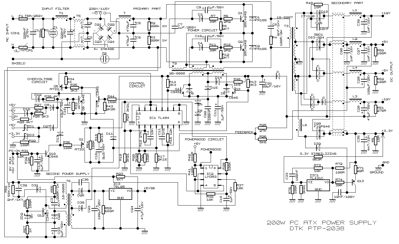 Схемы бп атх на tl494